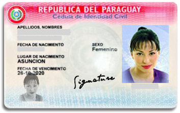 Paraguay Identity Card, Cedula, Paraguay immigration services, South-America
